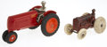 Antiques:Toys, Pair of Arcade Cast Iron Tractors.... (Total: 2 Items)