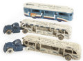 Antiques:Toys, Trio of Arcade Cast Iron Greyhound Buses.... (Total: 5 Items)