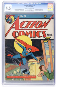 Action Comics #23 (DC, 1940) CGC VG+ 4.5 Cream to off-white pages
