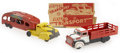 Antiques:Toys, Marx Auto Transport and Stake Truck.... (Total: 4 Items)