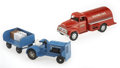Antiques:Toys, Tonka Gasoline Truck and Tonka Airlines Baggage Tractor.... (Total:3 Items)