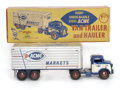 Antiques:Toys, Marx Acme Markets Van Trailer and Hauler in the Original Box....
