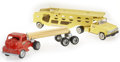 Antiques:Toys, Tonka Log Truck and Automobile Hauler Truck.... (Total: 5 Items)