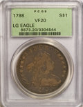 Early Dollars, 1798 $1 Large Eagle, Pointed 9 VF20 PCGS....