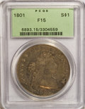 Early Dollars, 1801 $1 Fine 15 PCGS....