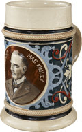 "Political:3D & Other Display (1896-present), William McKinley: ""Mac Kinley"" Multicolor Portrait Beer Mug...."