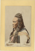 American Indian Art:Photographs, RUNNING DEER, CROW. c. 1889. ...