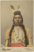 American Indian Art:Photographs, CHIEF WHITE BULL, CROW . c. 1889 . ...