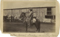 "Photography:Cabinet Photos, William Henry Jackson ""In the Corral. The Lariat"" Albumen View,Circa 1885. 4¼"" x 7¼""...."