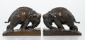 Fine Art - Sculpture, American:Modern (1900 - 1949), MAHONRI MACKINTOSH YOUNG (American, 1877-1957). Elephant(Bookends). Bronze. 5-1/2 x 7-1/8 x 2-3/4 inches (14.0 x 18.1x...