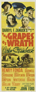 "Movie Posters:Drama, The Grapes of Wrath (20th Century Fox, 1940). Insert (14"" X 36"")....."