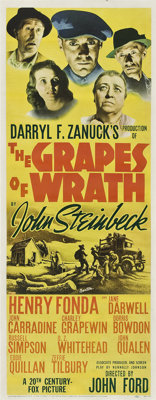"The Grapes of Wrath (20th Century Fox, 1940). Insert (14"" X 36"")"
