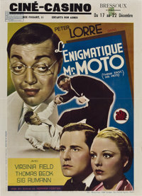 "Think Fast, Mr. Moto (20th Century Fox, 1937). Pre-War Belgian (14"" X 22"")"