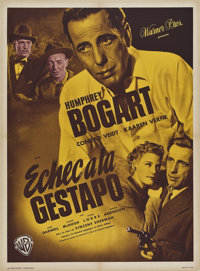 """All Through the Night (Warner Brothers, 1949). First Post-War Release French Petite (23.5"""" X 31.5"""")"""