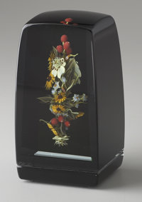 PAUL JOSEPH STANKARD A Cloistered Botanical Glass Upright Weight, 1994 Inscribed on base: Paul J. Stankard B