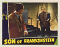 "Movie Posters:Horror, Son of Frankenstein (Universal, 1939). Lobby Card (11"" X 14"").. ..."