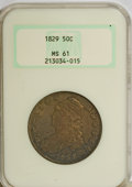 Bust Half Dollars, 1829 50C Small Letters MS61 NGC....
