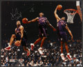 Basketball Collectibles:Others, Vince Carter Signed Oversized Photograph....