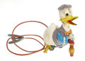 Antiques:Toys, Linemar Mechanical Donald Duck....
