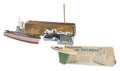 Antiques:Toys, Keystone Model 48 Racing Sailboat and No. 219 Aircraft Carrier in the Original Boxes.... (Total: 2 Items)