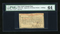 New York August 25, 1774 (Water Works) 1s PMG Choice Uncirculated 64