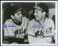 Autographs:Photos, Baseball Hall of Famers Dual-Signed Photographs Pair.... (Total: 2 items)