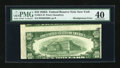 Error Notes:Skewed Reverse Printing, Fr. 2011-B $10 1950A Federal Reserve Note. PMG Extremely Fine 40.....