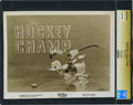 "Movie Posters:Animated, Donald Duck in ""The Hockey Champ"" (RKO, 1939). Still (8"" X 10"").. ..."