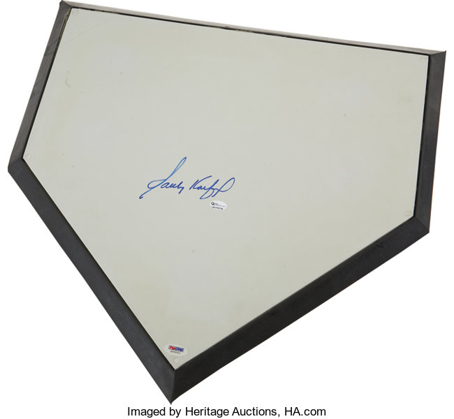 Swell Circa 2000 Sandy Koufax Signed Home Plate Autographs Download Free Architecture Designs Rallybritishbridgeorg