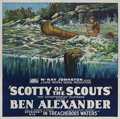 "Movie Posters:Serial, Scotty of the Scouts (Rayart Pictures, 1926). Six Sheet (81"" X 81"")Episode Six - - ""In Treacherous Waters."". ..."
