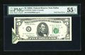 Error Notes:Foldovers, Fr. 1970-K $5 1969A Federal Reserve Note. PMG About Uncirculated 55EPQ.. ...