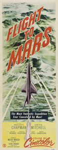 "Movie Posters:Science Fiction, Flight to Mars (Monogram, 1951). Insert (14"" X 36"").. ..."