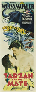 "Movie Posters:Adventure, Tarzan and His Mate (MGM, 1934). Insert (14"" X 36"").. ..."