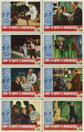 """Movie Posters:Horror, How to Make a Monster (American International, 1958). Lobby Card Set of 8 (11"""" X 14"""").. ... (Total: 8 Items)"""
