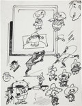 Original Comic Art:Miscellaneous, Sheldon Mayer Rudolph, the Red-Nosed Reindeer Story andSketch Original Art, Group of 77(circa 1979).... (Total: 77Items)