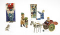 Antiques:Toys, Lot of Five Mechanical Tin Toys.... (Total: 5 Items)