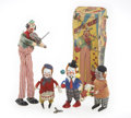Antiques:Toys, Lot of Four Clown Toy Windups.... (Total: 4 Items)