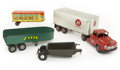 Antiques:Toys, Lot of Five Metal Toy Trucks and Trailers.... (Total: 5 Items)