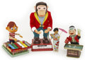 Antiques:Toys, Lot of Four Mechanical Novelty Toys in the Original Boxes.... (Total: 4 Items)