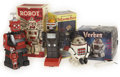 Antiques:Toys, Trio of Mechanical Toy Robots in the Original Boxes.... (Total: 3 Items)
