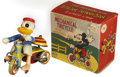 Antiques:Toys, Line Mar Disney Donald Duck Wind-up Mechanical Tricycle in the Original Box....