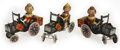 Antiques:Toys, Lot of Three Marx Tin Litho Joy-Rider Car Variations.... (Total: 3Items)