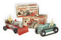 Antiques:Toys, Marx Sparkling Climbing Tractor and Highboy ClimbingTractor in the Original Boxes.... (Total: 2 Items)
