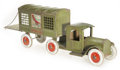 Antiques:Toys, Structo Airport Mail Truck and Trailer.... (Total: 2 Items)