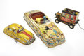 Antiques:Toys, Trio of Marx Tin Litho Cars.... (Total: 3 Items)
