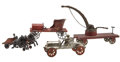 Antiques:Toys, Lot of Four Miscellaneous Cast iron and Wood Vehicles.... (Total: 4Items)
