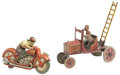 Antiques:Toys, Technofix Motorcycle & Marx Snoopy Gus Tin Wind-up.... (Total: 2 Items)