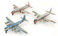 Antiques:Toys, Lot of Three Linemar American Airlines Toy Airplanes.... (Total: 3 Items)