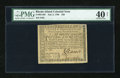 Colonial Notes:Rhode Island, Rhode Island July 2, 1780 $20 PMG Extremely Fine 40 Net....