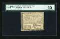 Colonial Notes:Rhode Island, Rhode Island July 2, 1780 $8 PMG Choice Extremely Fine 45....